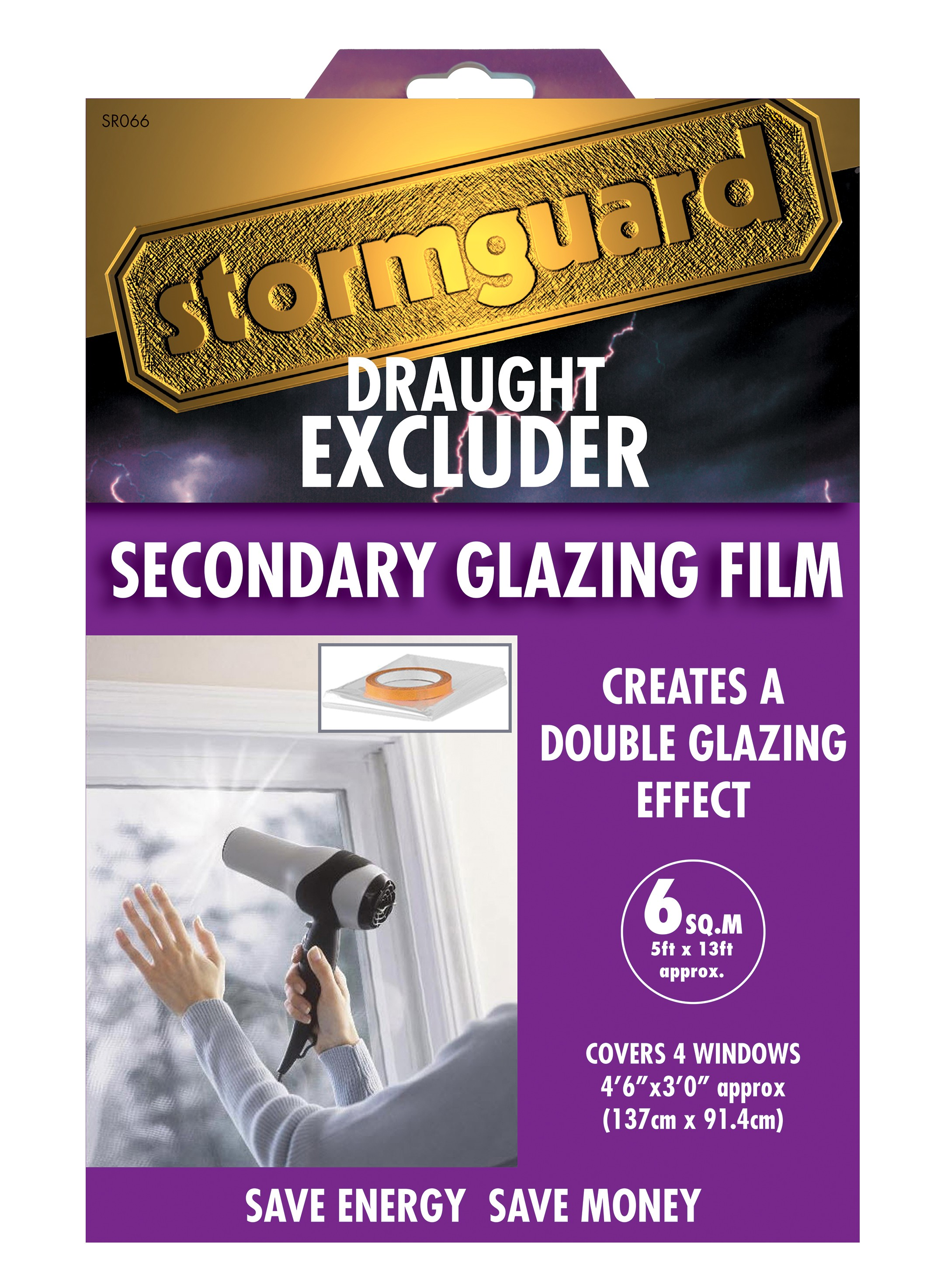 Double Glazing Product : Seasonal double glazing film — stormguard
