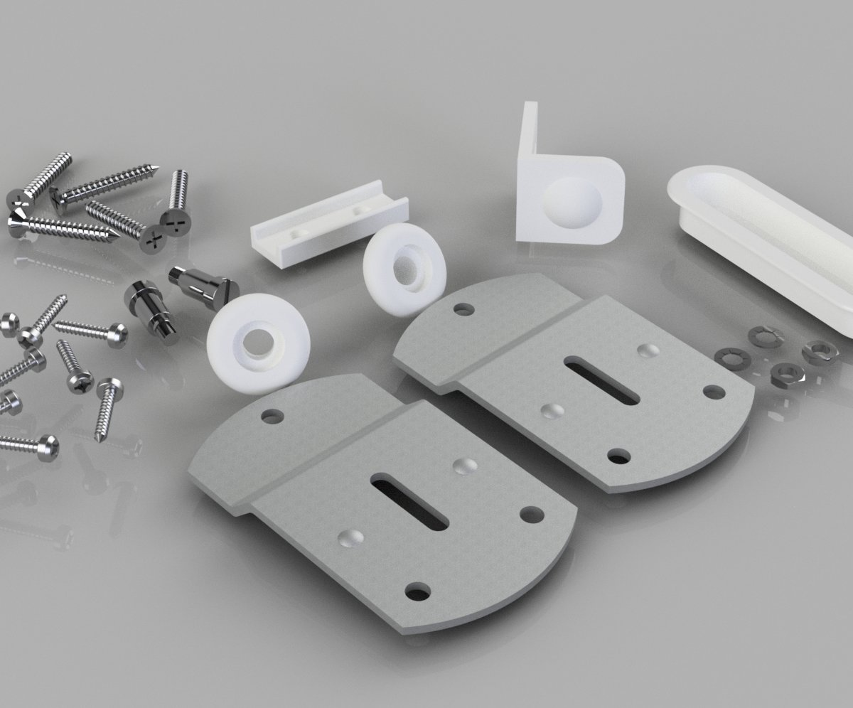 Wardrobe Door Gear No. 1 Fittings Kit- SS1