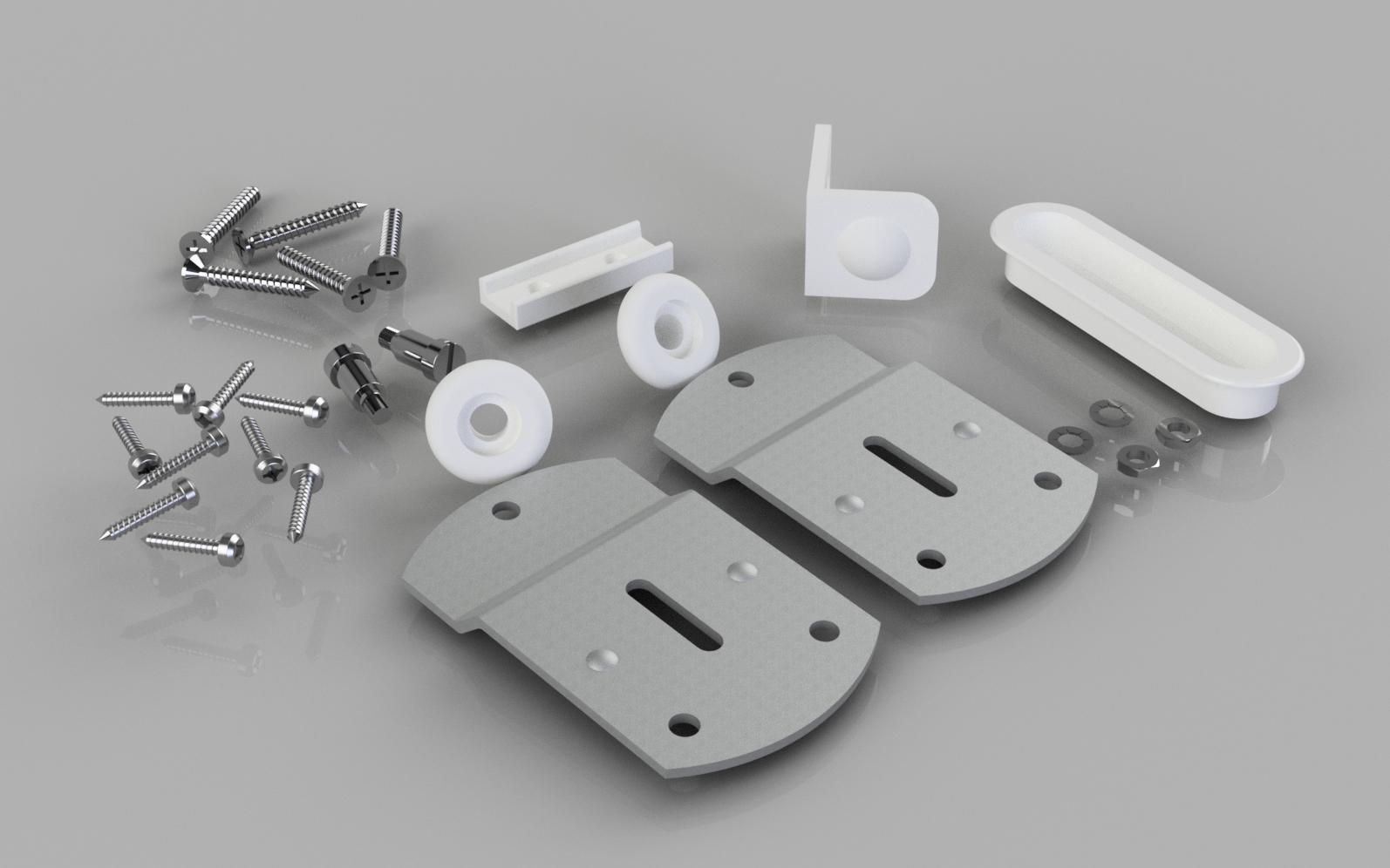 Wardrobe Door Gear No 1 Fittings Kit Ss1 Stormguard