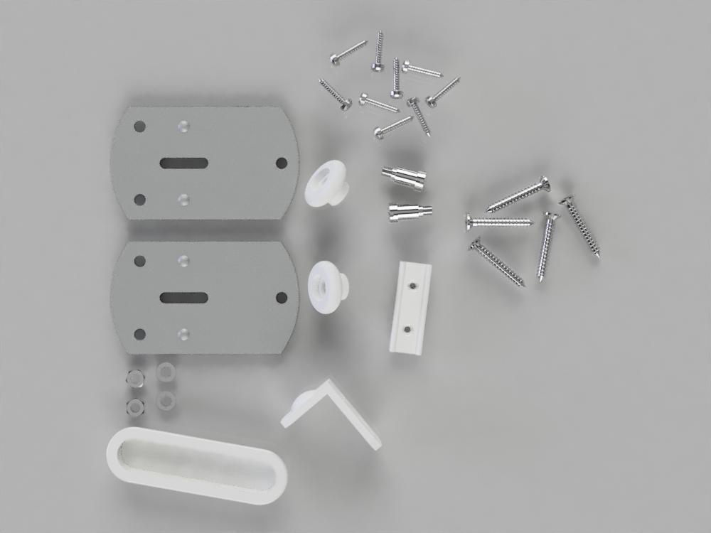 Wardrobe Door Gear No 2 Fittings Kit Ss2 Stormguard