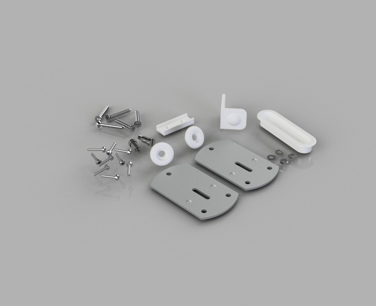 Wardrobe Door Gear No.2 Fittings Kit- SS2