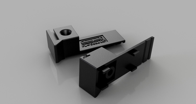 Upvc Door Infill Bar Double Door End Caps Stormguard