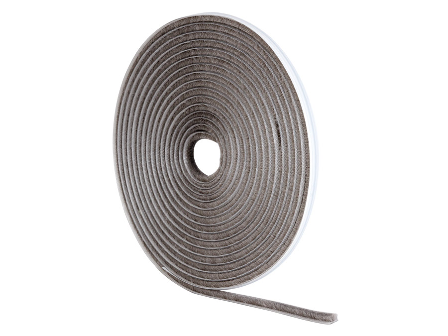 5 m Set of 4 Piece White STORMGUARD 05AM020005MW Brush Pile Self-Adhesive Draught Excluder Seal