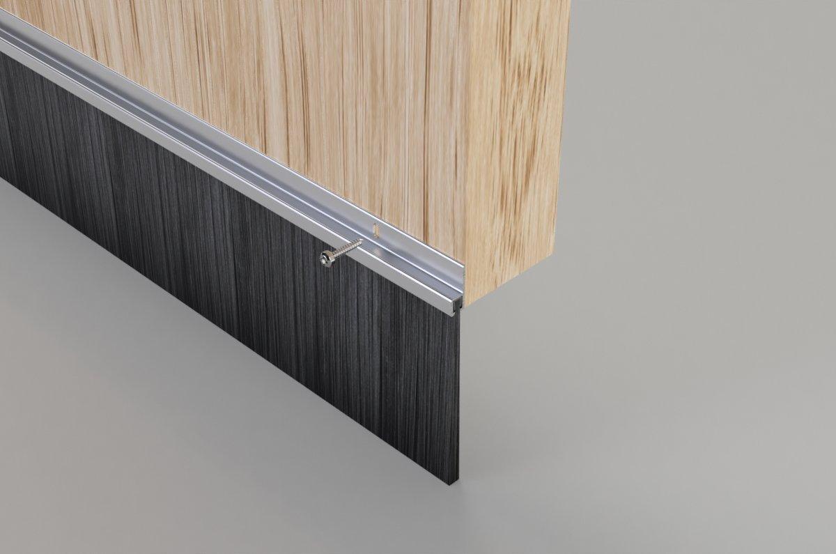 75mm Aluminium Brush Bottom Door Seal