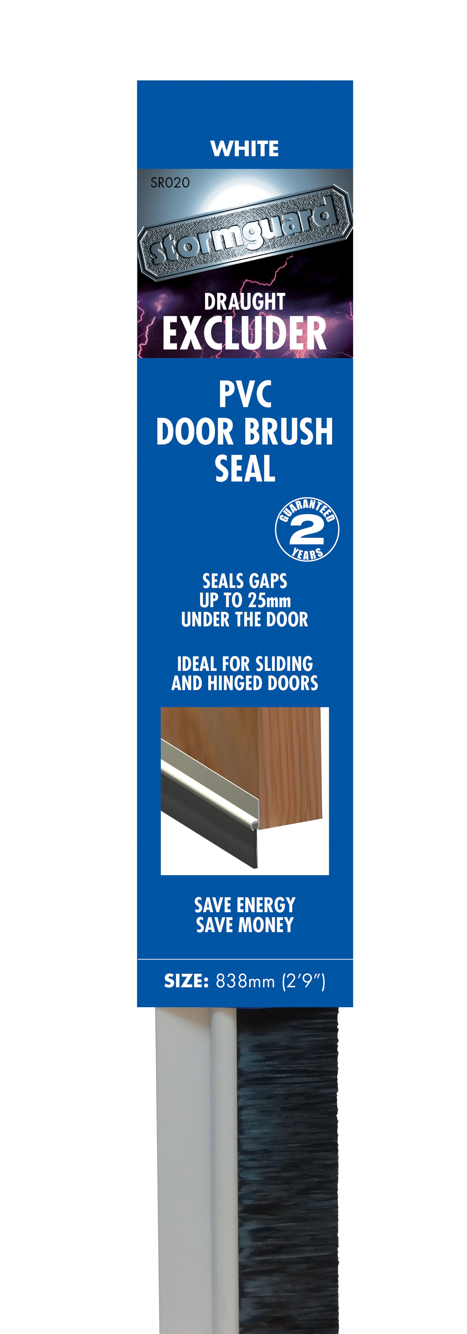 Pvc Brush Bottom Door Seal Stormguard