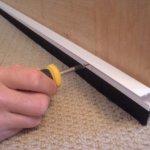Concealed Fix Brush Bottom Door Seal