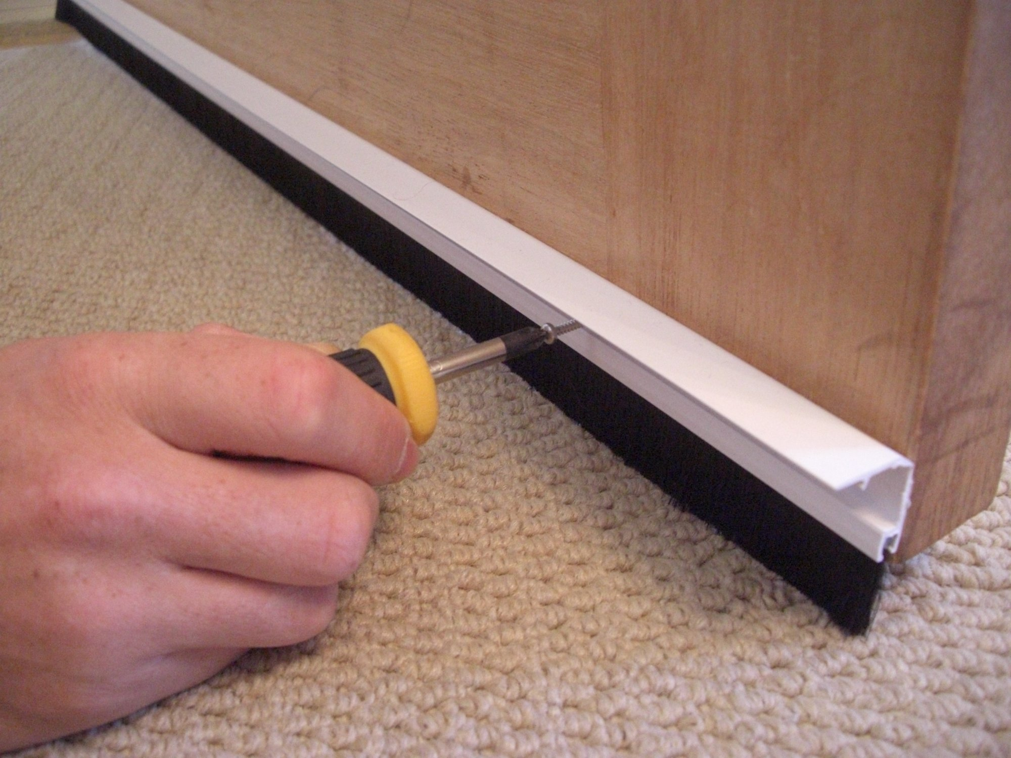 Concealed Fix Brush Bottom Door Seal Stormguard