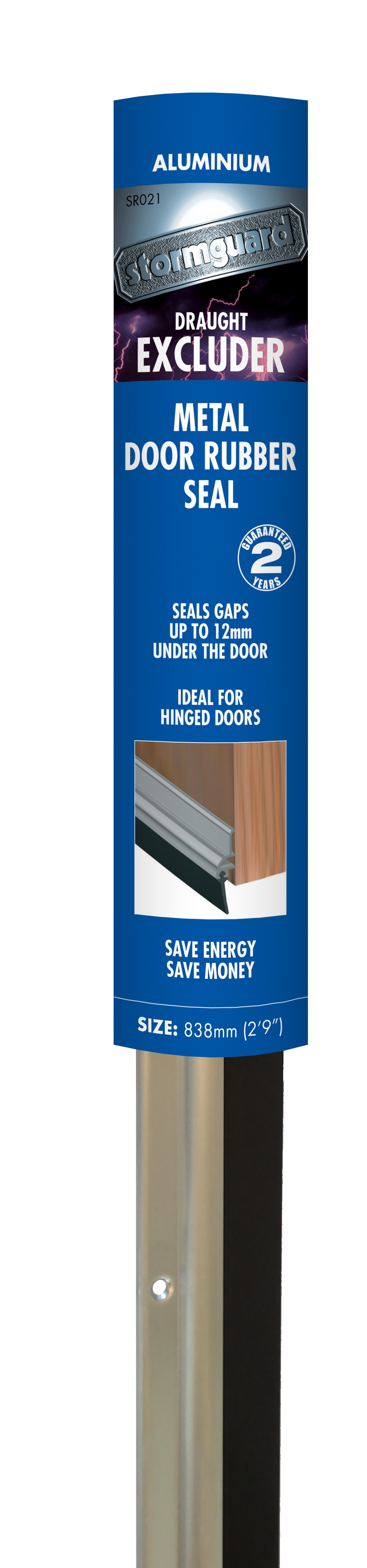 Aluminium Rubber Bottom Door Seal Stormguard