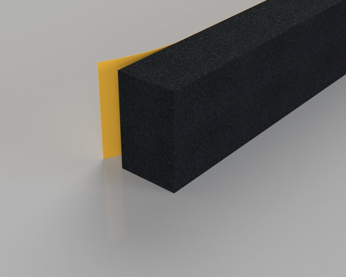 Extra Thick Rubber Foam Weatherstrip Stormguard