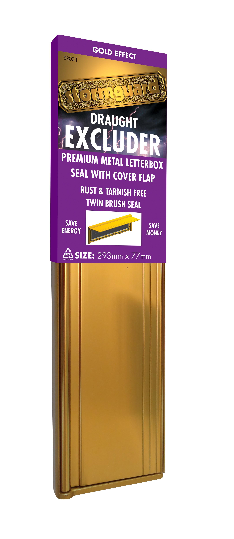 Aluminium Brush Letterplate With Flap Stormguard