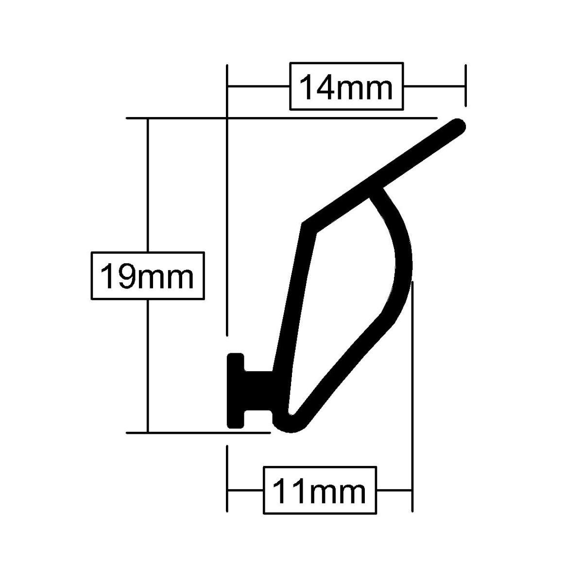 Double Door Seal 30mm Rubber
